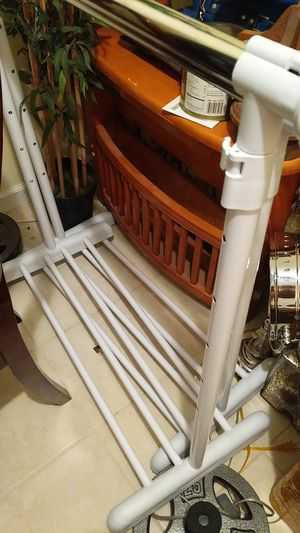 2 white clothes racks for Sale in MONTGOMRY VLG, MD