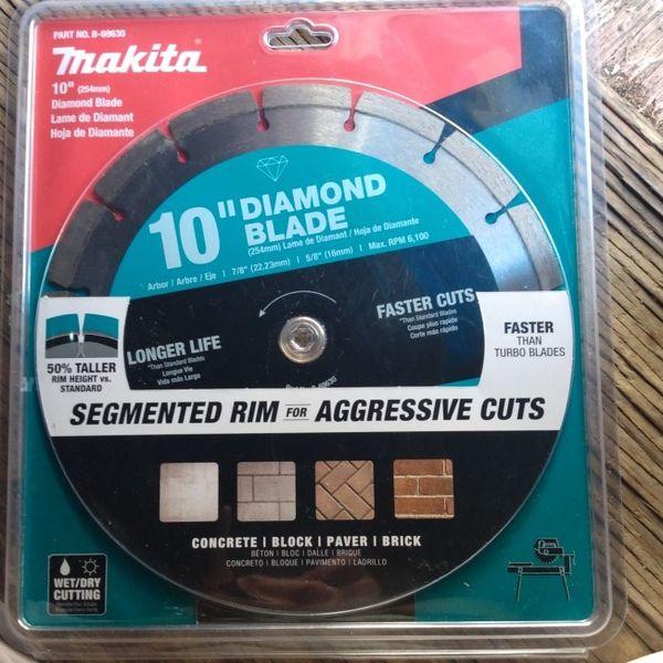 10' Inch Diamond Blade Makita Table Saw Blade