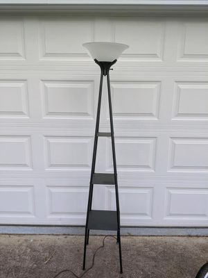 Torchere floor lamp with shelves for Sale in Cary, NC