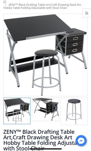 Black Drafting Table for Sale in El Monte, CA