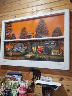 2 Pane Handpainted Window Frame OBO for Sale in Port Charlotte,  FL