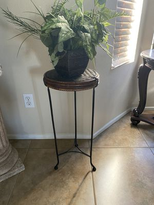 Home decoration stand with fake plant for Sale in Fontana, CA