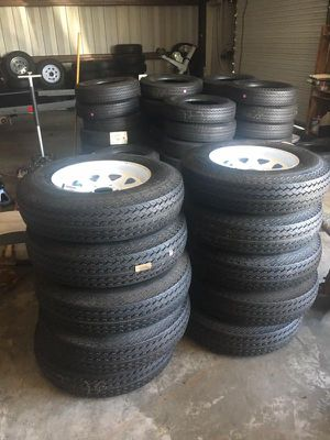 """15"""" 5 lug Trailer tire and rim - 205/75/15 - We carry all trailer tires. New with warranty - 15"""" 5 lug trailer tire - 2057515 -We carry trailer parts for Sale in Plant City, FL"""