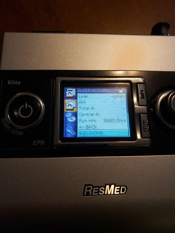 Resmed elite epr cpap sleep apnea machine