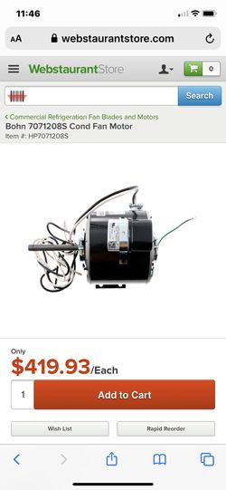 Refrigeration motor HEATCRAFT Oem. Hvac Freon refrigerants r-22 for Sale in Las Vegas,  NV