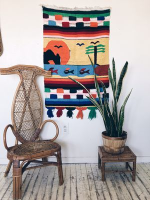 Gorgeous Vintage Mexican Hand-loomed Tapestry for Sale in San Diego, CA