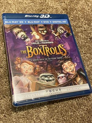 New factory sealed The Boxtrolls 3D bluray complete for Sale in Pasadena, CA