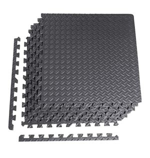 """NEW CAP 6-Piece Puzzle Exercise Floor Fitness Mat Black 1/2"""" Thick for Sale in Riverside, CA"""