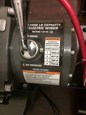 Brand New 12,000 pound Winch with mounting hitch & remote control for Sale in Douglasville, GA