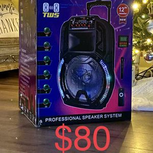 "12"" KEUS Bluetooth Wireless Rechargeable Speaker With Microphone 🎤🎶🔊🔊 for Sale in Pico Rivera, CA"