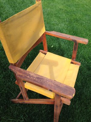 Mid century modern wooden folding lawn chair for Sale in Morton, IL