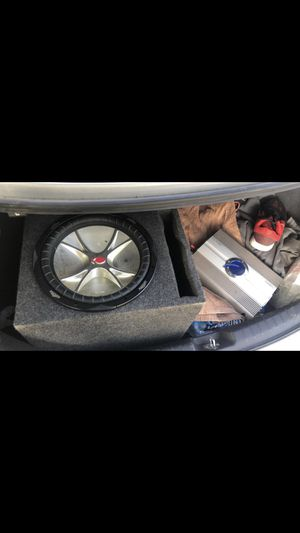 "12"" Kicker speak and 850 watt planet audio amplifier for Sale in Melvindale, MI"