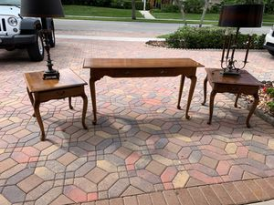 Ethan Allen and Moosehead solid wood and tables and Console table for Sale in Boca Raton, FL