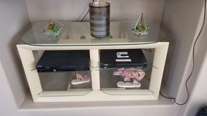 TV & Cable Consule - Glass & Wood for Sale in Clovis, CA