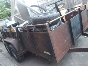12x6 landscaping metal trailer with tailgate for Sale in Lodi, CA