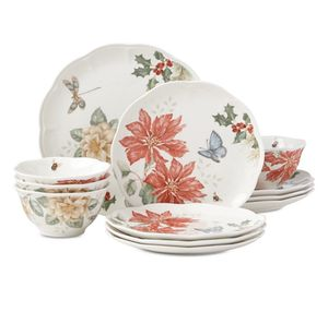 Butterfly Meadow Hydrangea 12-piece Dinnerware Set by Lenox Service for 4 NEW for Sale in Silver Spring, MD
