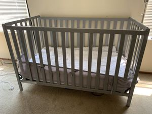 Grey Crib and Dresser/Changing table for Sale in Oakland, CA
