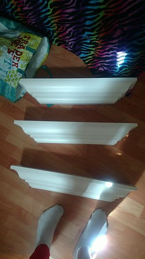 3 ikea white hanging wall shelves for Sale in Vallejo, CA