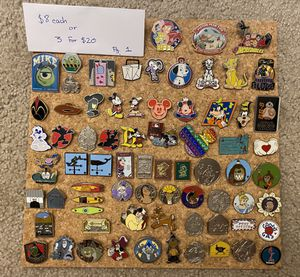 Disney pins for sale! Price in photos for Sale in Fullerton, CA