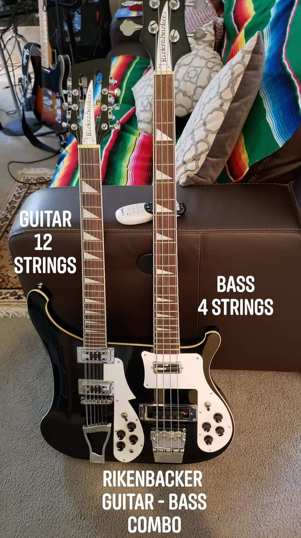 Rickenbacker Double Neck Copy Top Is A 12 String Guitar And Bottom Is A 4 String Bass.