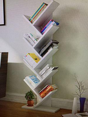 9 shelf tree book shelf storage ( bookshelf) white. for Sale in Turlock, CA