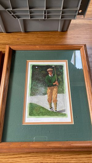2 Golf photographs in frames for Sale in Glendale, CA