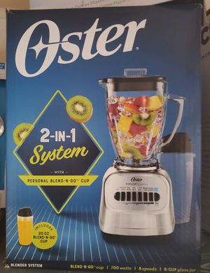 New 2 in 1 glass blender with personal blend n go cup for Sale in Riverside, CA