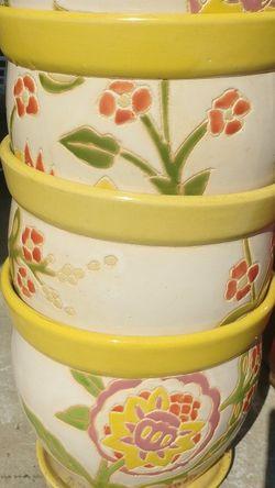 Set of 4 Flower Pots for Sale in Germantown,  MD