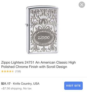 Classic Zippo Lighter for Sale in Spring Hill, FL