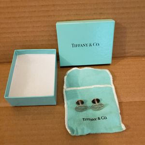 Please Return to Tiffany & Co New York 925 Sterling Silver Cufflinks for Sale in Washington, DC