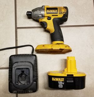 DeWalt 18v impact driver, Battery, and charger for Sale in Virginia Beach, VA
