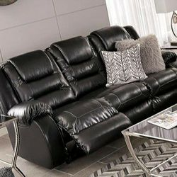 🚛IN STOCK FAST DELIVERY Vacherie Black Reclining Living Room Set /sofa And Loveseat Price for Sale in Philadelphia,  PA