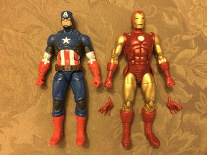 Marvel Legends lot Captain America now & Ironman Classic 80 years 80th anniversary mandroid baf for Sale in Wichita, KS