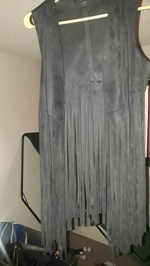 HOT &DELICIOUS/ LADIES size small/ leather fringe vest for Sale in Fresno, CA