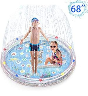 """Sprinkler Splash Pad for Kids Toddlers 68"""" Inflatable Double Layer Sparkling Water Toys for Sale in Whittier, CA"""