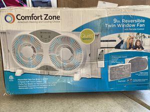 Comfort zone twin window fan 9in for Sale in Menifee, CA