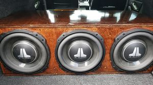 3 JL Audio 10Tw3's. *CUSTOM BOX* for Sale in Hillsboro, OR