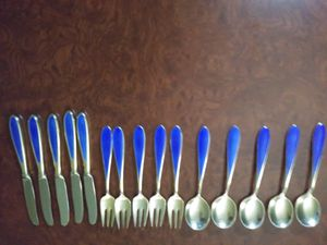 Norwegian 9.25 Silver demitasse flatware for Sale in Austin, TX
