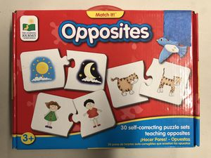 """The Learning Journey """"Opposites"""" Educational Puzzle Set for Sale in Costa Mesa, CA"""