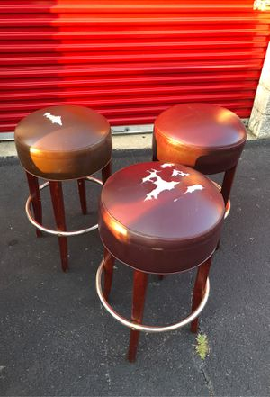 Bar Stools (3) well built need love for Sale in Sudley Springs, VA