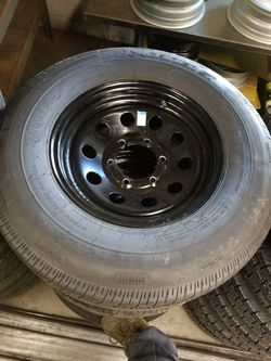 6 lug trailer wheel tire assembly st225/75r15 for Sale in Irwindale,  CA