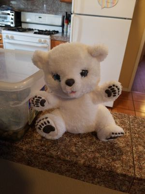 FurReal Friends Snifflin Sawyer sneezy polar bear for Sale in El Monte, CA