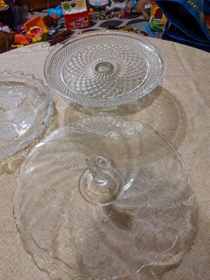 Glass party/cake trays for Sale in Palm Bay, FL
