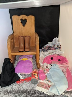 "Baby doll and 18"" doll clothes lot for Sale in Tacoma, WA"