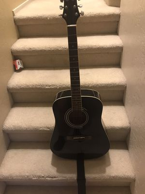 Silver tone 6 string Guitar. Has some scratches on back. Has carrying bag also. Autisical Guitar for Sale in Gilbert, AZ
