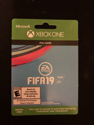 XBOX ONE FIFA19 (Download) for Sale in Pittsburgh, PA