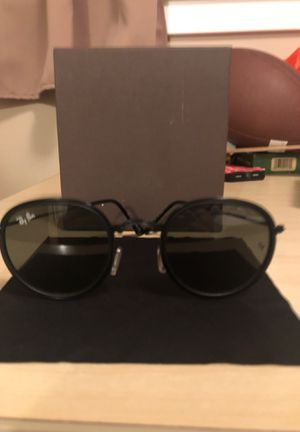 Round flat lense ray band sunglasses all black for Sale in Bellevue, WA