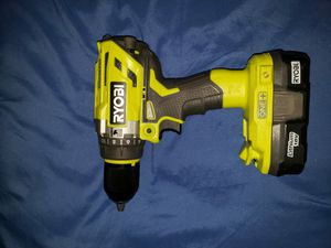 RYOBI P251 ONE PLUS 18V BRUSHLESS HAMMER DRILL WITH BATTERY for Sale in Orlando, FL