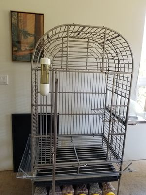 Stainless Steel Bird Cage for Sale in Dripping Springs, TX