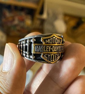 Mens Stainless Steel Motorcycle Club Biker Harley Davidson Ring For Men Size 13 for Sale in Queens, NY